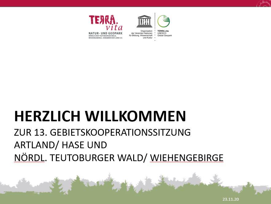 13. Sitzung der Gebietskooperationen — online